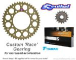 CUSTOM 15/45 KIT: Renthal Sprockets and GOLD Tsubaki Alpha X-Ring Chain - Yamaha R6 (2006-2015)